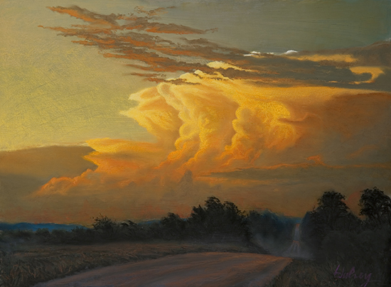 After the Deluge pastel painting by John Hulsey
