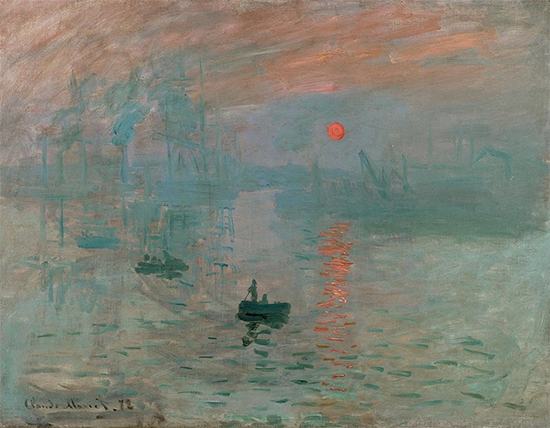 Impression, Sunrise, 1872, Claude Monet