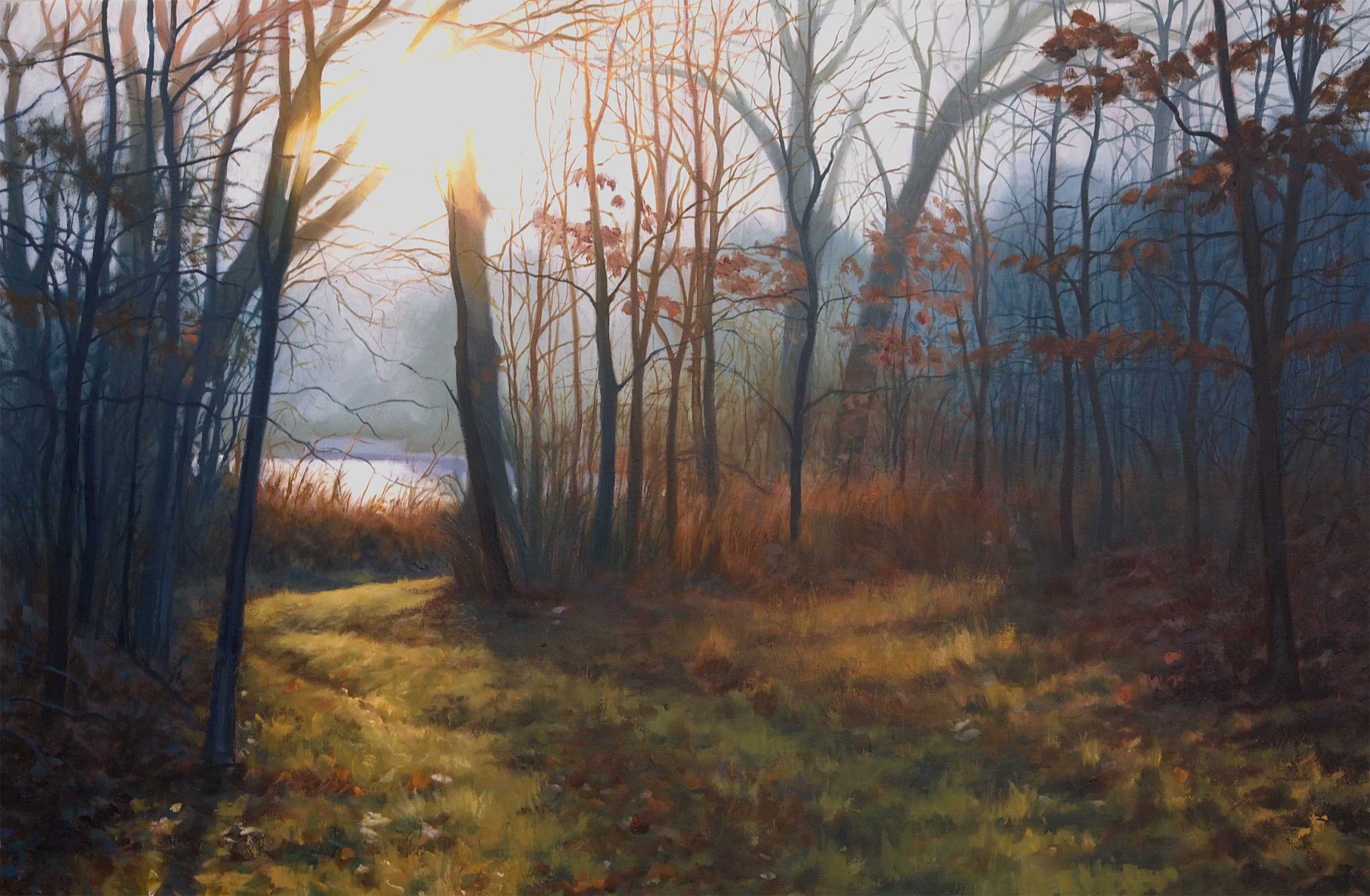 Misty Morning  Oil Painting by John Hulsey
