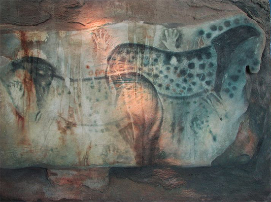 Spotted Horses Cave Paintings at Pech-Merele