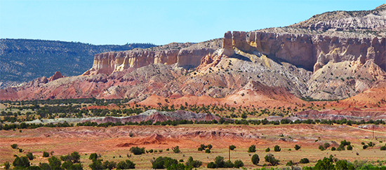 Photo of rocks at Ghost Ranch, N.M.