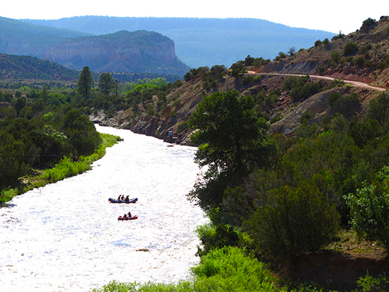 Photograph of Rafters on the Rio Chama