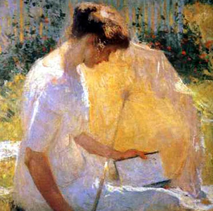 The Reader, 1910, Frank Weston Benson