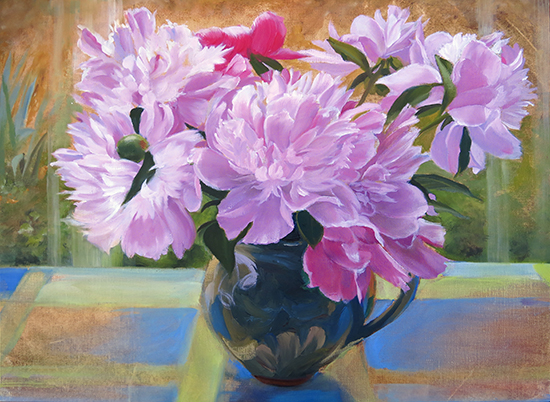 Peonies in Provencal Pitcher ©Ann Trusty