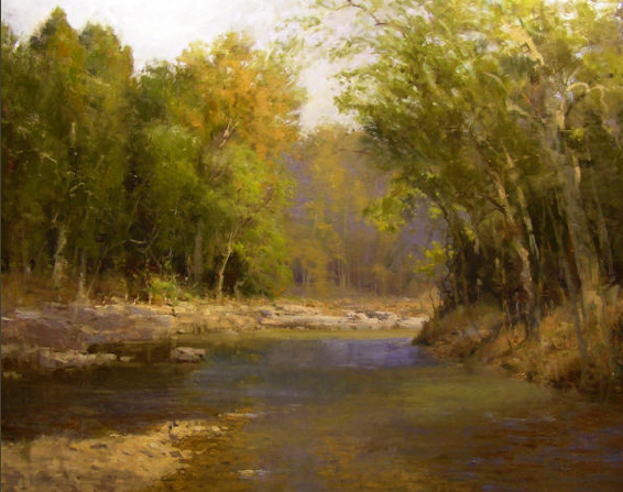 oil painting of Hapeth River Tennessee, by Roger Dale Brown