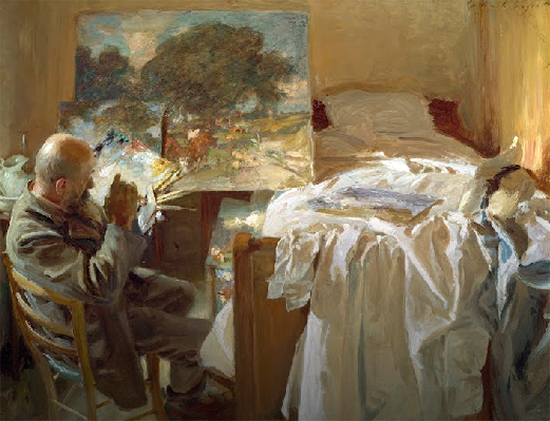 An Artist in His Studio (Ambrogio Raffele) by John Singer Sargent