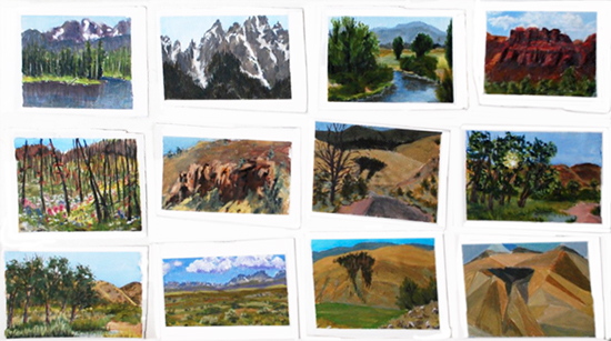Early Morning Daily Paintings from WY by Bob Bahr