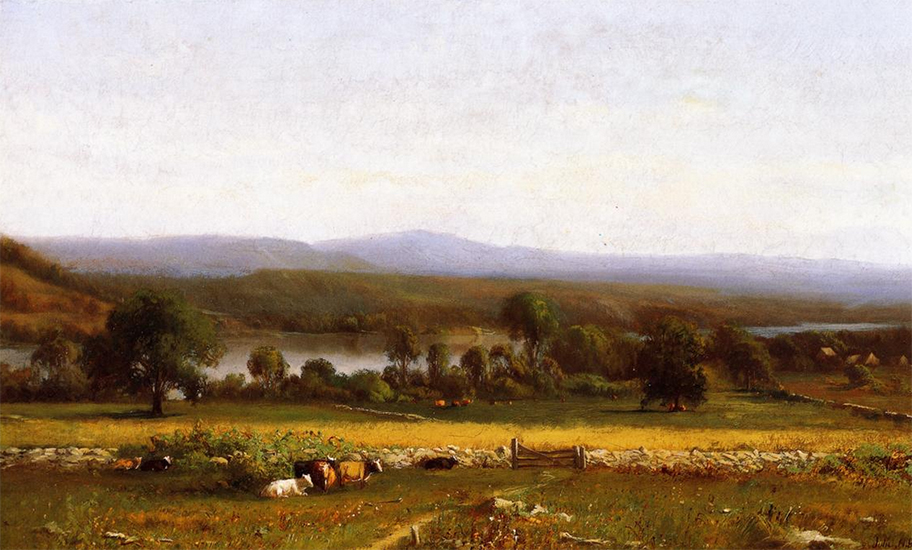 Farm on the Hudson, 1861, Julie Beers