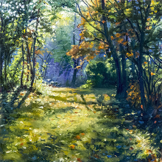 oil landscape painting by John Hulsey