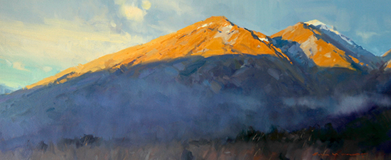 Last Light on Mount Judah, Oil, © John Crump