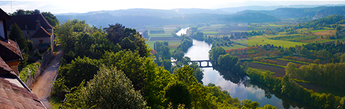 Panoramic photo of the Dordogne River Valley from Domme, by John Hulsey