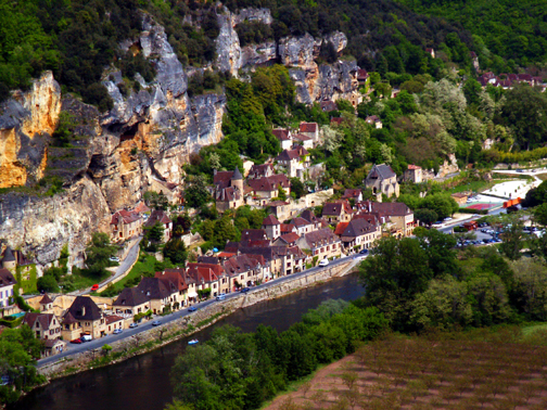 Photo of La Roque Gageac, Dordogne, France, by John Hulsey