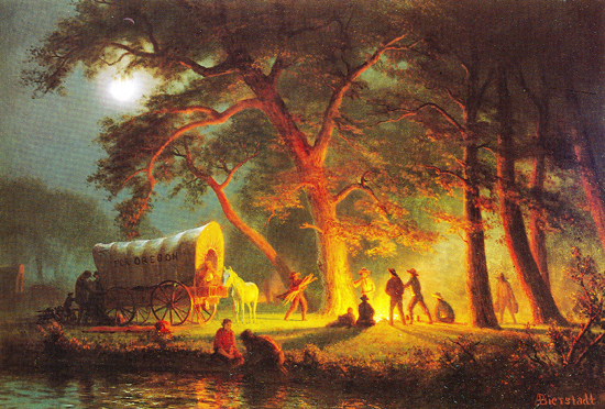 Oregon Trail by Albert Bierstadt