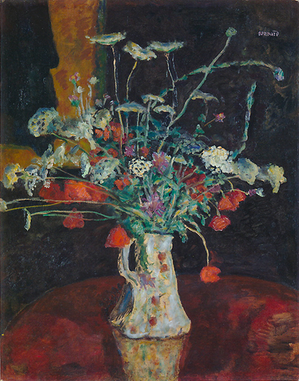 oil painting of flowers by Pierre Bonnard