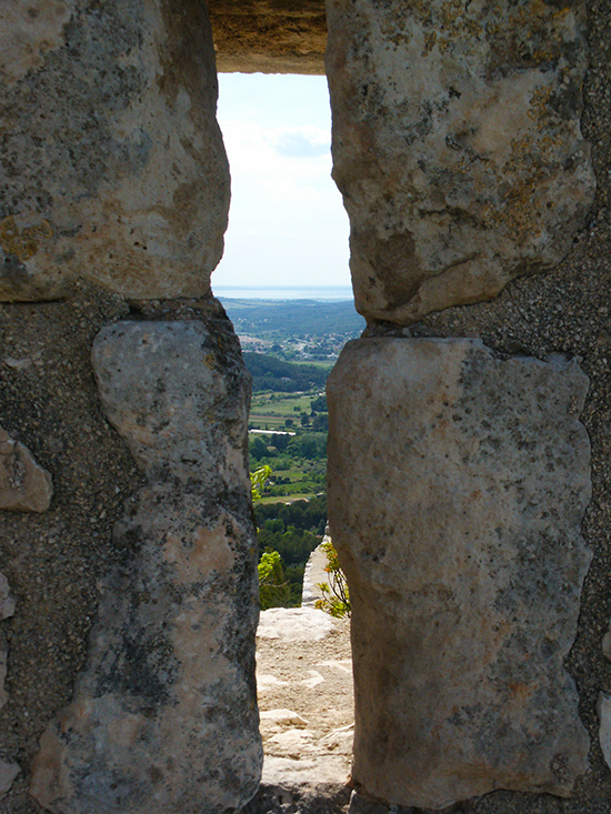 Ventabren View through Stone Wall