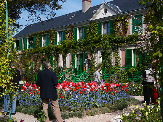 Monet's House at Giverny with Tulips