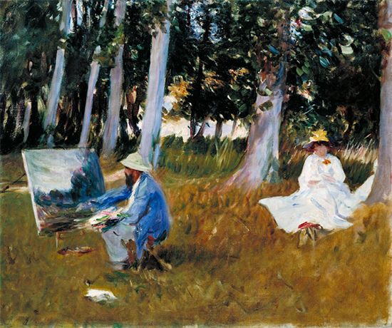 Claude Monet Painting by the Edge of a Wood by John Singer Sargent