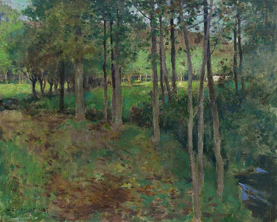 Giverny, 1887, painting by Willard Metcalf