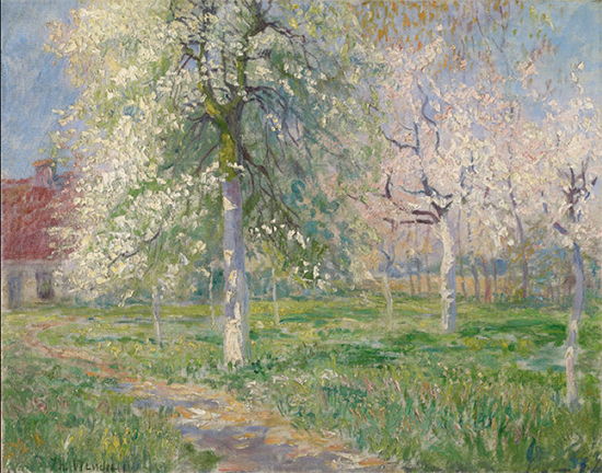 Giverny Farmhouse in Spring painting by Theodore Wendel