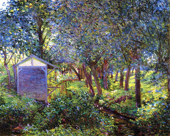 Giverny Landscape In Monets Garden, 1897, painting by Lilla Cabot Perry