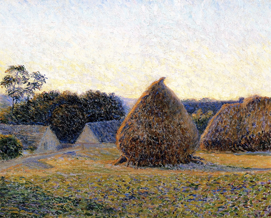 Haystacks Giverny, 1896, painting by Lilla Perry Cabot