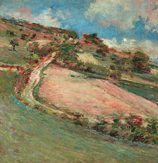 Hillside Springtime Giverny, 1891, painting by Theodore Robinson