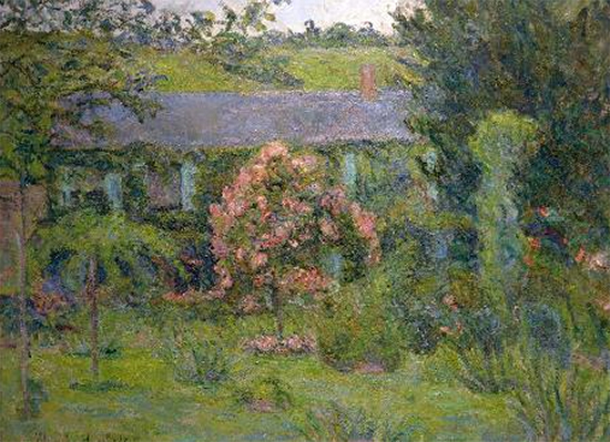 House and Garden of Claude Monet painting by Blanche Hoschede Monet