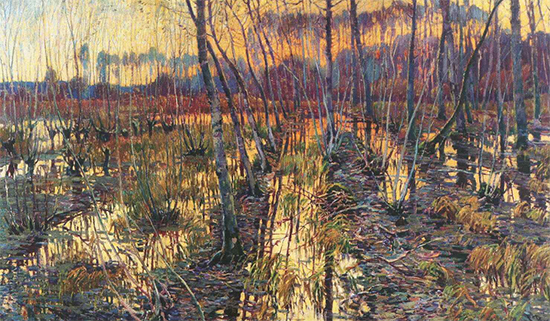 Landscape in Giverny, 1900, painting by Vaclav Radimsky