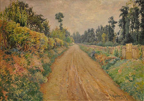 Road to Giverny, 1894, painting by Vaclav Radimsky