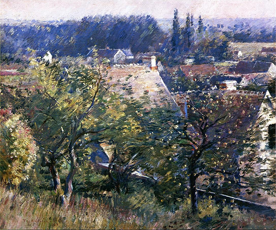 Saint Martins Summer, Giverny, 1888, painting by Theodore Robinson