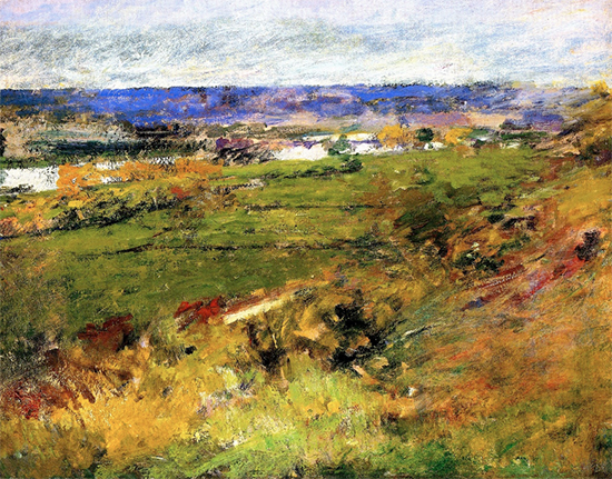 Study for Valley of the Seine from the Giverny Heights, 1892, painting by Theodore Robinson