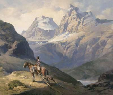 Painting of Glacier National Park by Adolph Heinze
