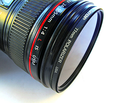 Photograph of Canon Camera Lens