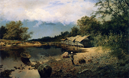Oil Painting of a Forgotten Mill, 1891, Alexander Kiselyov