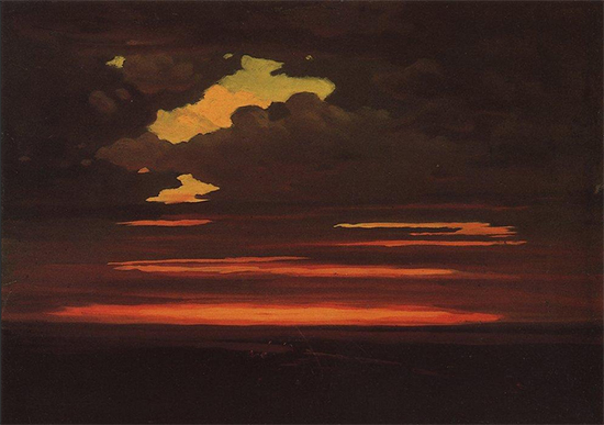 Oil Painting of Clouds, ca. 1905, Arkhip Kuindzhi