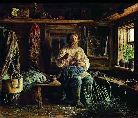 Painting of a Blind Man 1884 Vassily Maximov