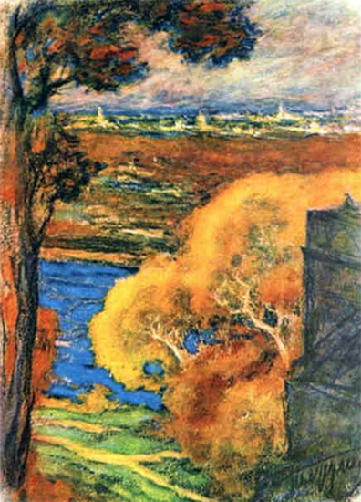 An Impressionistic Painting of Autumn by Leonid Pasternak