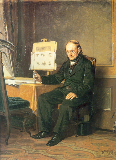 Painting of an Art Teacher with Easel, 1867, Vasily Perov