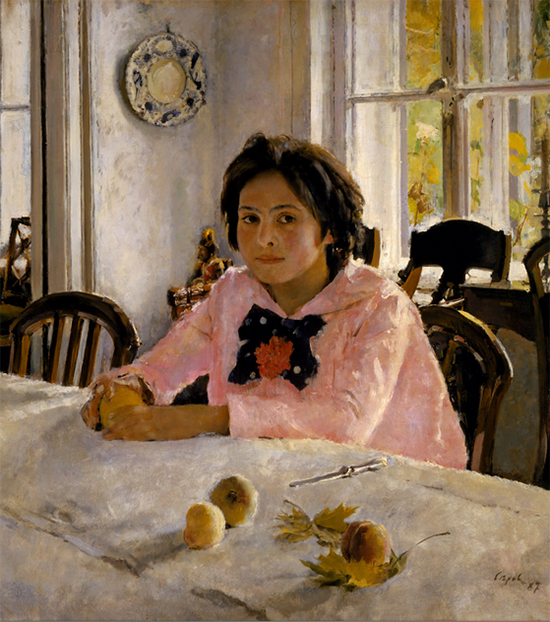 Painting of a Girl with Peaches, 1887, Valentin Serov