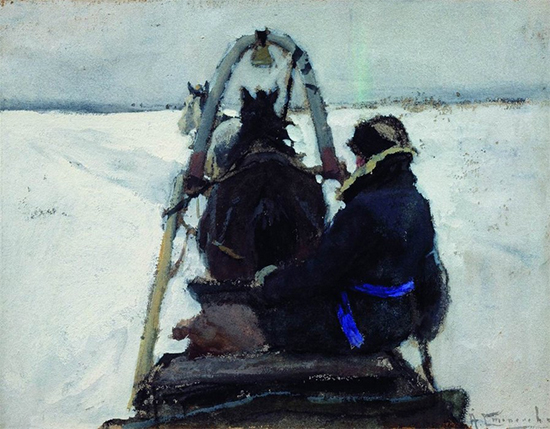 Painting of a Horse and Carriage, date unknown Alexi Stepanov
