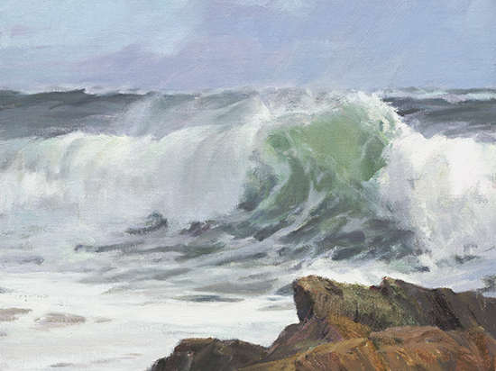 "Green Crest, 12 x 16"", © Karen Blackwood"