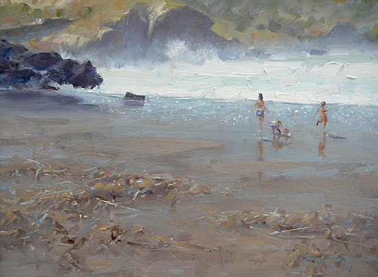 Oil The Beaches of Catalina by Frank LaLumia