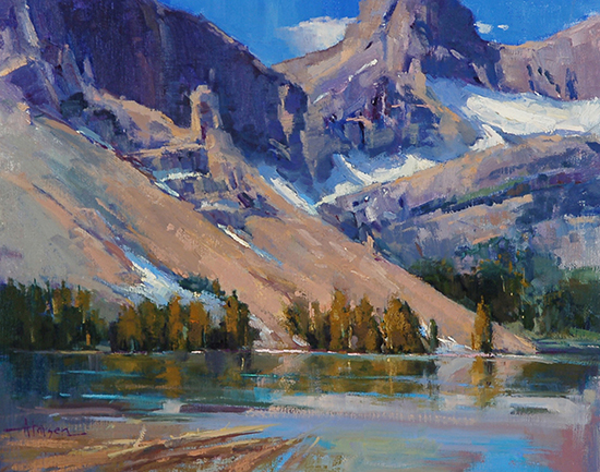 "Bow Lake, 16 x 20"" Oil Painting © Ann Larsen"
