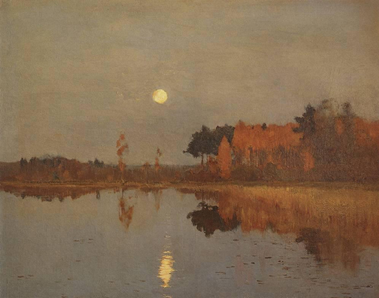 Oil painting, Twilight Moon © Isaac Levitan