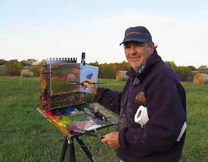 photo of John Hulsey painting plein air. © A. Trusty