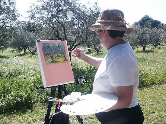 photo of S, Jeffers painting in Provence.© J. Hulsey
