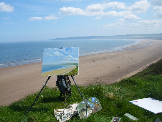 Ludvigsen plein air gear at Filey.jpg