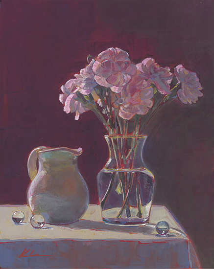"The Little White Jug, 10 x 8"", Casein on Panel, © Mary Nagel Klein"