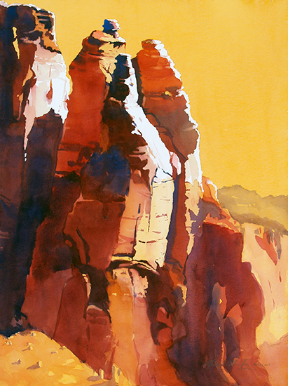 Red Rocks - Morning Light by Mark Mehaffey
