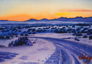 watercolor painting of New Mexico